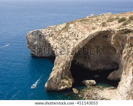 Blue Grotto - Gozo, Malta - stock photo