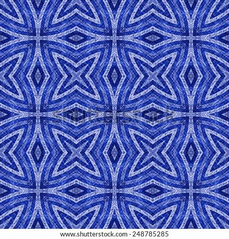 blue grunge old textile pattern background  - stock photo