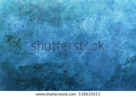 Blue grunge surface, background image - stock photo