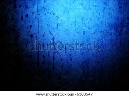 blue grunge wall - stock photo