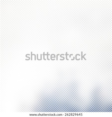 blue halftone, white abstract background, dots pattern - stock photo
