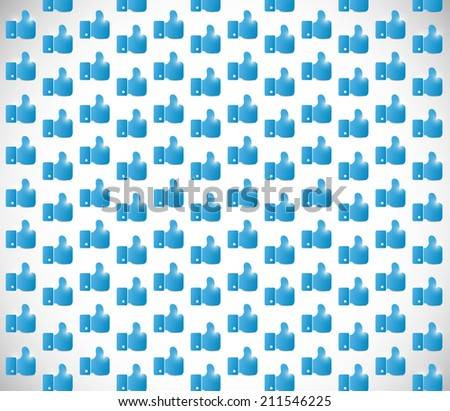 blue hand background image illustration design - stock photo