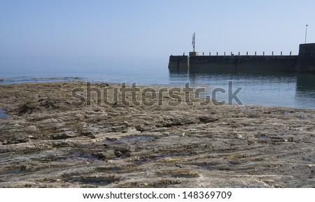 blue harbor - stock photo