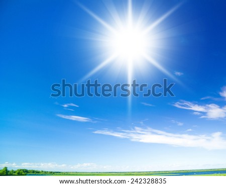 Blue Heavens Skies Above  - stock photo