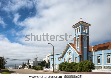 Blue historic church, Punta Del Este Uruguay