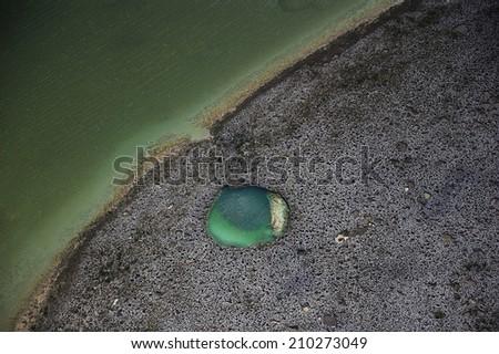 Blue holes in Andros Islands, Bahamas, Caribbean Sea - stock photo
