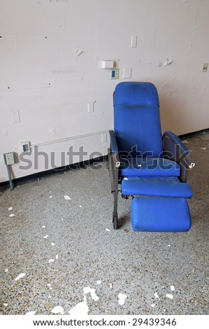 Blue Hospital Chair - stock photo