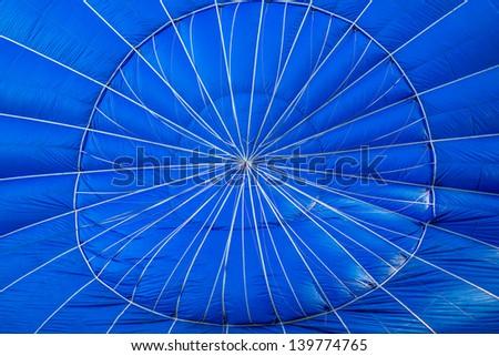 Blue Hot air balloon inside - stock photo