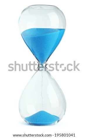 Blue hourglass - stock photo