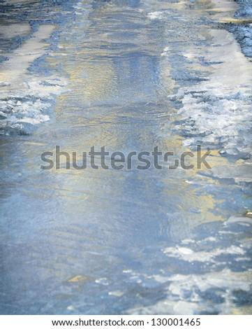 Blue ice. - stock photo