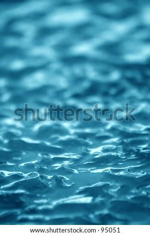 Blue Ice Background V - stock photo