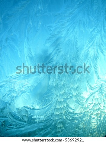blue ice pattern texture background - stock photo