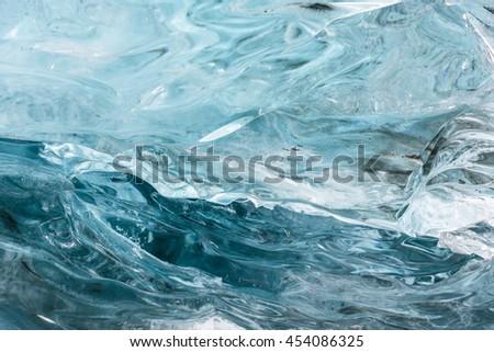 Blue ice textura . Hofn. Vatnajokull Glacier. Iceland  - stock photo