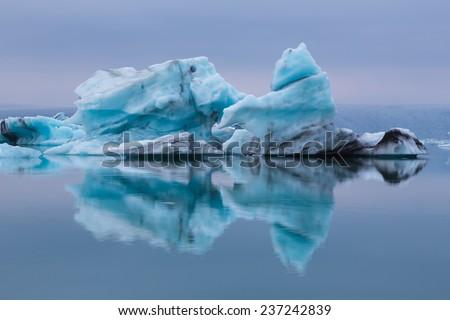 Blue iceberg. - stock photo