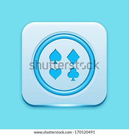 Blue icon  - stock photo