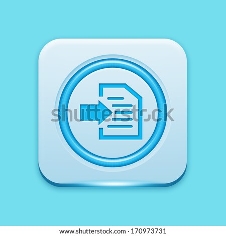 Blue icon edge light - stock photo