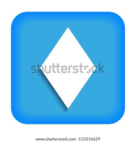 Blue icon with the image of rustrakehner color diamonds ace - stock photo