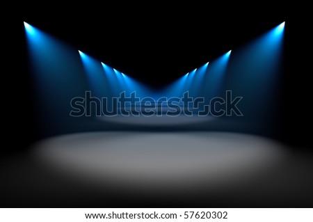 Blue illumination - stock photo