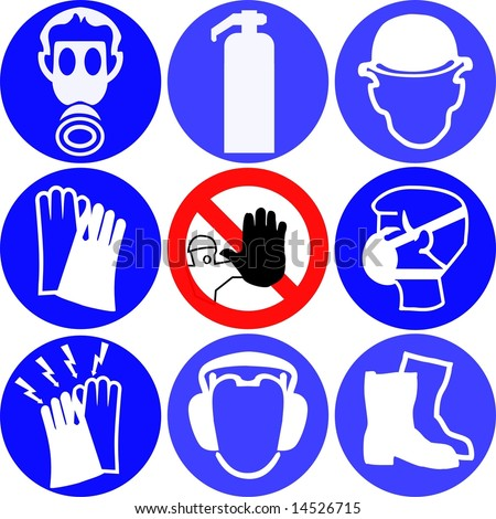 Protective Wear Safety Work Signs Stock Photo 41056936 ...