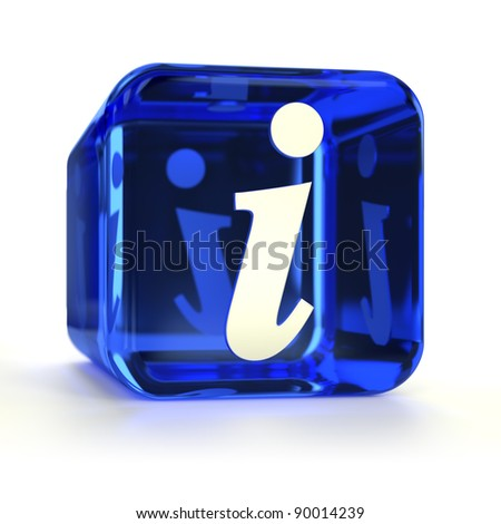Blue info computer icon. Part of an icon set. - stock photo