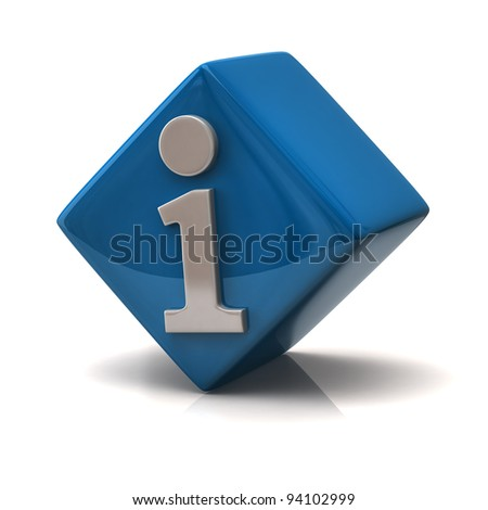 Blue information Icon - stock photo