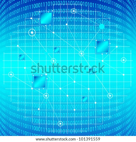 Blue Information Technology Background. Eps Version Also Available In Gallery. - stock photo