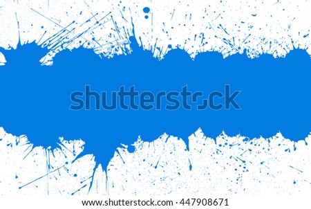 Blue ink splashes with space for text over white background. Bright Background for your designs, projects, promotional sales and other your projects. Just add your text
