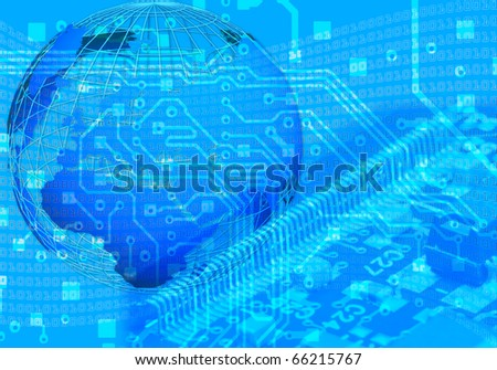 Blue internet concept - stock photo