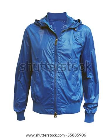 blue jacket - stock photo