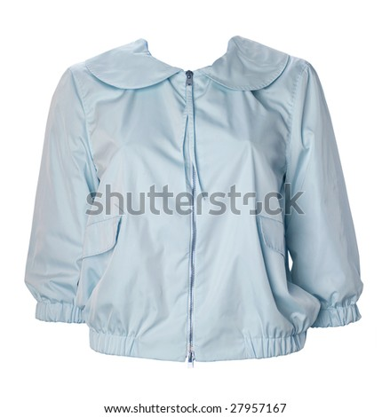blue jacket blouse shirt
