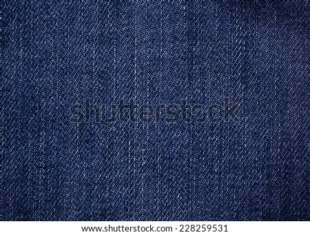 Blue jean background. - stock photo