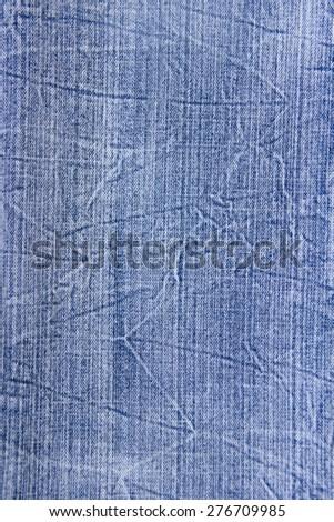 Blue jean denim texture background fashion  - stock photo