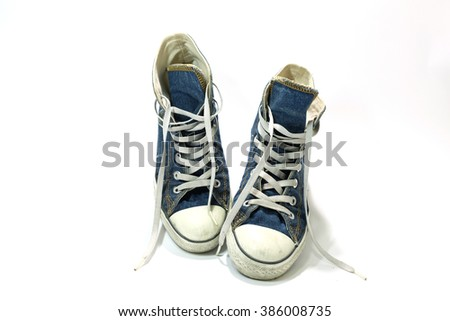 blue jean sneakers ankle