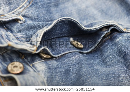 blue jeans close up in studio - stock photo