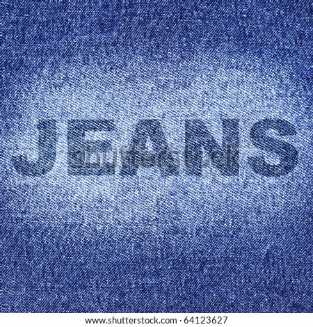 Blue jeans, may be used as background