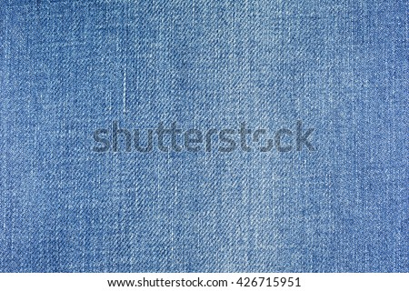 Blue jeans pattern texture and background - stock photo