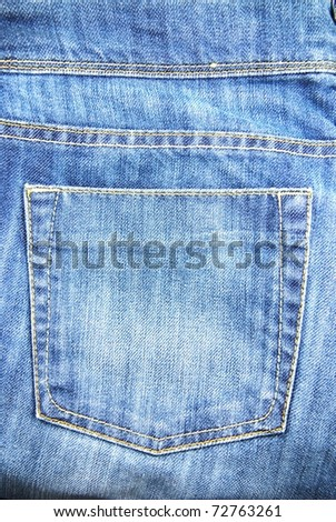 Blue Jeans pocket of background - stock photo