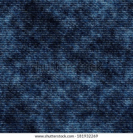 Blue jeans seamless texture background - stock photo