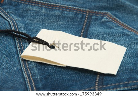 blue jeans texture and price tag