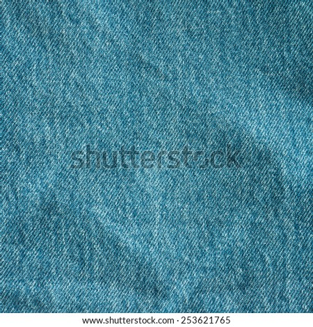 Blue jeans texture background - stock photo