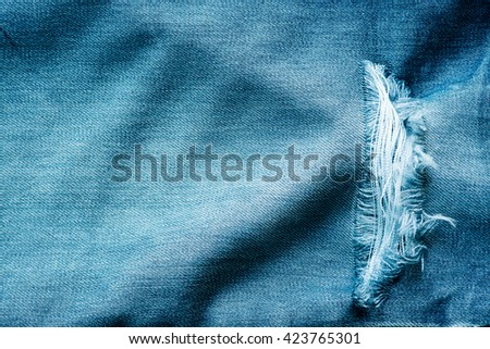 Blue jeans texture. Background.