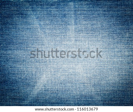 Blue jeans texture close-up background - stock photo