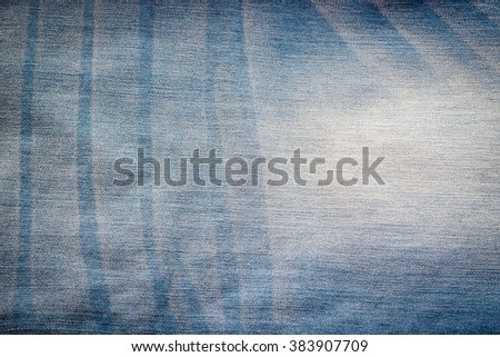 Blue jeans texture for background  - stock photo