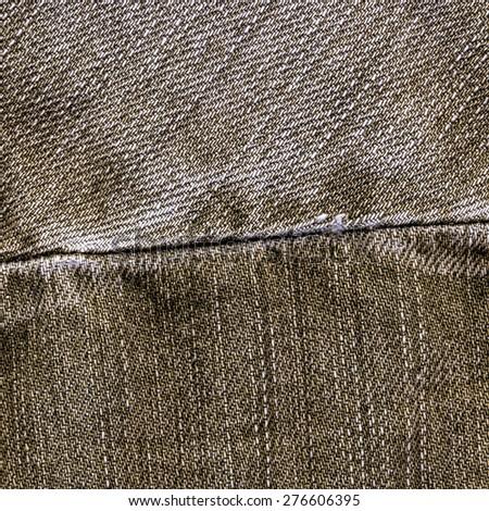blue jeans texture,seam - stock photo