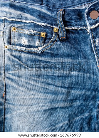 Blue jeans trouser - stock photo