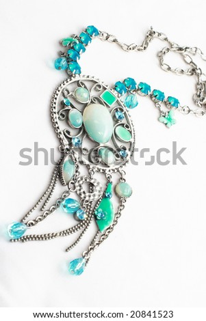 blue jewelery - stock photo