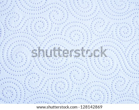 blue kitchen paper with micro - stock photo