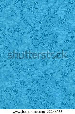 Blue Lace Background Design - stock photo