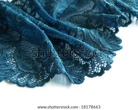 Blue lace. Other colors in my portfolio. - stock photo