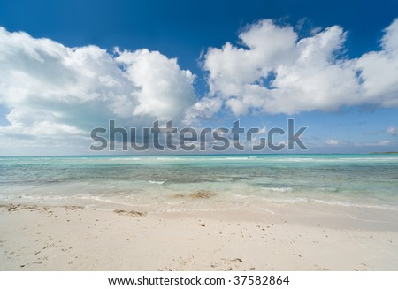 Blue lagoon, Atlantic Ocean, Cube - stock photo